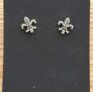 Betsey Johnson Fleur de Lys post earrings